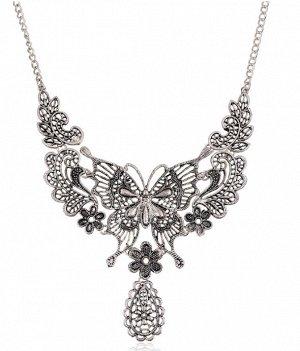 Ожерелье бабочка как на фото, металл