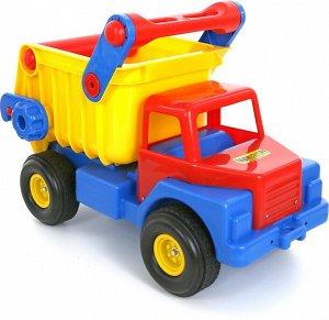 Автомобиль-самосвал №1 с резиновыми колёсами