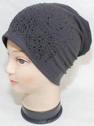 Трикотажная, тонкая шапочка, красивая!