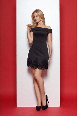 Платье черное, р 48