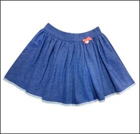 Синий джинс Юбка для девочек