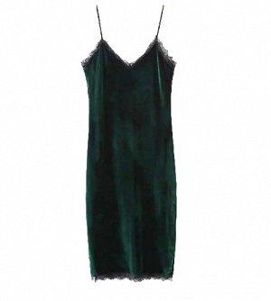 Продам велюровое платье с кружевом