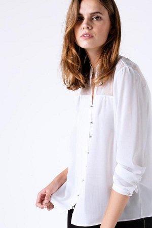 рубашка 63 % полиэстер 31% вискоза 6% эластан