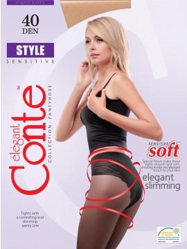Style 40 колготки (Conte)/9/ корректирующие колготки с утягивающими трусиками 90 Den