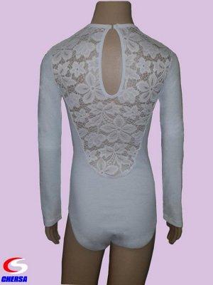 Купальник гимнастический черса белый