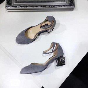 Туфли замшевые, реплика Casadei, на 36 р.