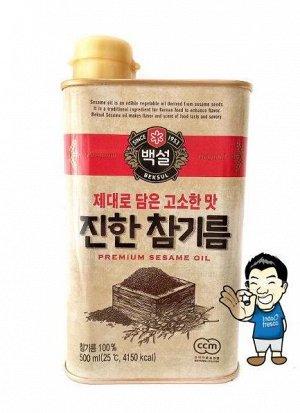 Кунжутное масло нераф. 500 мл ж/б 1/12 т.м. СиДжей