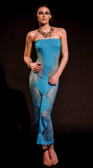 Платье Платье эластичное длинное, с разрезами по бокам, голубой. Идет на 42-46 размеры. если размер указан , как Размер OSгрудь 81 - 96талия 61 - 76бедра 86 - 101   При выборе размера учитывайте  и