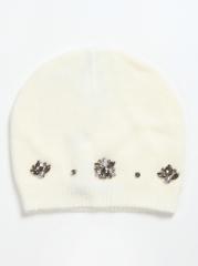 Вязаная шапочка на девочку 6-8 лет черный цвет