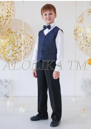 Элегантный костюм для мальчиков цвет синий