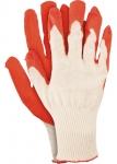 Перчатки трикотажные с натуральным латексным обливом