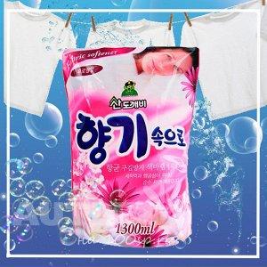 Кондиционер для белья Sandokkaebi Soft Aroma Цветочный, запасной блок, 1300 мл