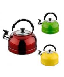 Чайник со свистком IRIT IRH-418 желтый (нерж, 2,5л)