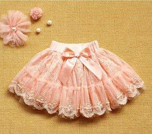 Персиковая юбочка на рост 80-86 см.
