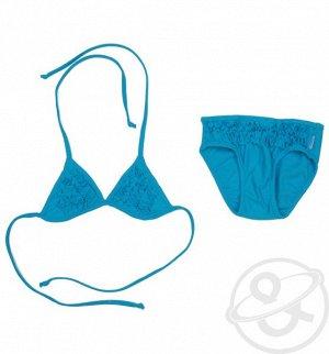 Купальник купальник ТМ Cornette - цвет сочный сине-голубой  украшен рюшами