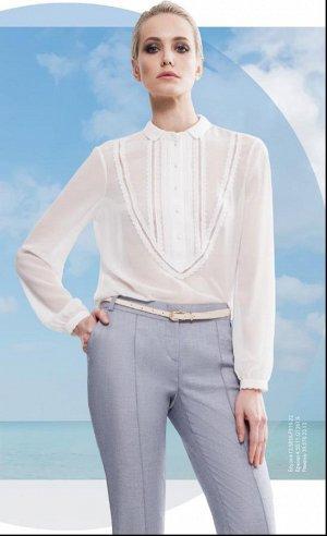 Белая блуза для офиса и не только на 42-44 размер