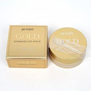 Гидрогелевые патчи для глаз Petitfee GOLD Hydrogel Eye Patch, 60шт*1.4г