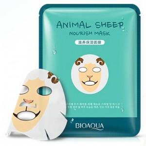 BIOAQUA ANIMAL SHEEP Питательная маска-салфетка для лица, 30 г