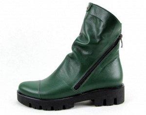 Ботинки кожа зеленый