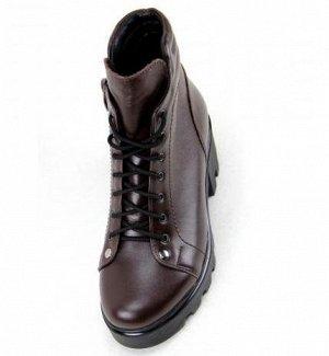 Ботинки натуральная кожа коричневый