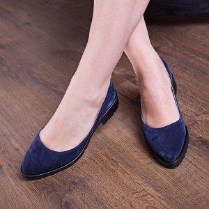 Тип кожи натуральная замша;Цвет Синий;Высота каблука 3.5;Покрой Размер в размер;Очень комфортные