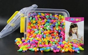 Набор бусин в пластиковом чемодане 1015 штук