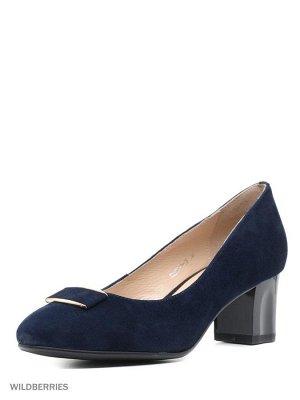 туфли,темно-синие, замша