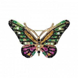 Брошь бабочка зеленая