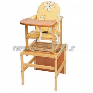 """Стол-стул для кормления """"Октябренок"""" (ромашки желт.)"""