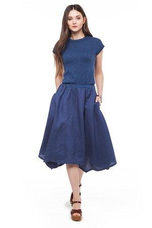 Шикарное платье с комбинированием ткани