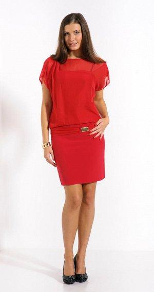 № 20 красное летнее платье 54 размер