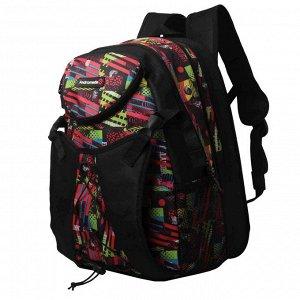 Рюкзак Д30хШ11хВ42 ярус 8 Рюкзак с креплением для роликов, два основных отдела, карман на передней стенке, крепление для роликов на застежке фастекс, нагрудная фиксация, рюкзак увеличивается в ширину