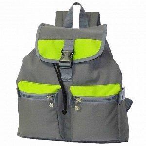 Рюкзак Ш34хГ12хВ44 Прогулочный, молодежный рюкзак приятной расцветки имеет один основной отдел затягивается шнуром и застегивается перекидным клапаном на фастекс. В процессе эксплуатации хозяин рюкзак