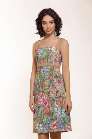 Продам платье  бежевое .материал типа сатин стрейч.