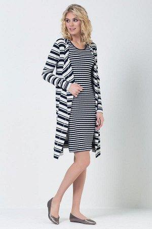 Платье из вискозного полотна в полоску