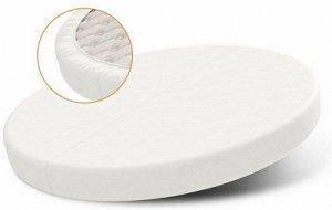 Непромокаемый наматрасник для детской круглой кроватки р. 75 см