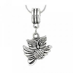 подвеска Бижутерный сплав. Цвет металла: серебро. Сова - это символ мудрости и знаний!