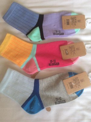 """Носки двухцветные  с """"выделенной пяткой"""""""