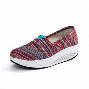 Тканевые удобные летние туфли