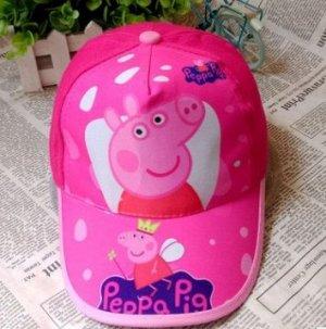 "Бейсболка ""Свинка Пеппа"" ярко-розовая"