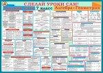 Плакат 7 класс русский язык, алгебра и геометрия