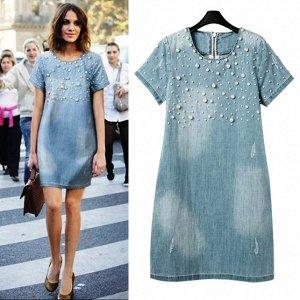 Джинсовое платье 52 размера