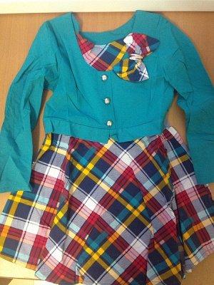 платье Платье Ткань кадрэ (ПЭ 65%, вискоза 35%)Платье обманка для детей дошкольного возраста. Длина изделия на 34 размер - 56 см. Рукава длинные.