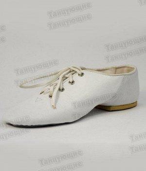 """Джазовки """"Танцующие"""" кожа белые"""