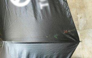 Зонт складной черный с автомобильным логотипом УЦЕНКА