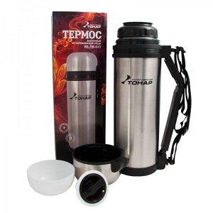 Термос HS.TM-013 1800ML (дополн.пласт.чашка, скл.ручка, ремень) TONAR