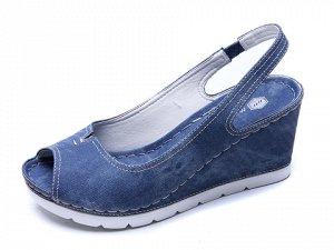 Туфли летние открытые, иск.кожа. На 38р. широкую ногу.