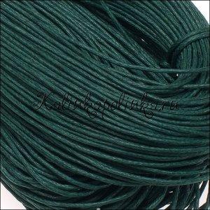 Шнур вощёный хлопковый, цвет сосновый зеленый, толщина 1 мм, в пасме72м