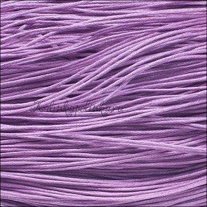 Шнур вощёный хлопковый, цвет розово-сиреневый, толщина 1мм, в пасме 72метра.
