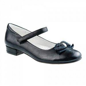 Очень красивые кожаные туфли чёрного цвета 32-33р Дешевле СП